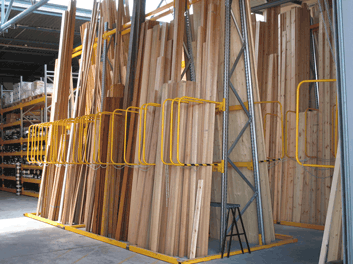 a frame vertical storage racking