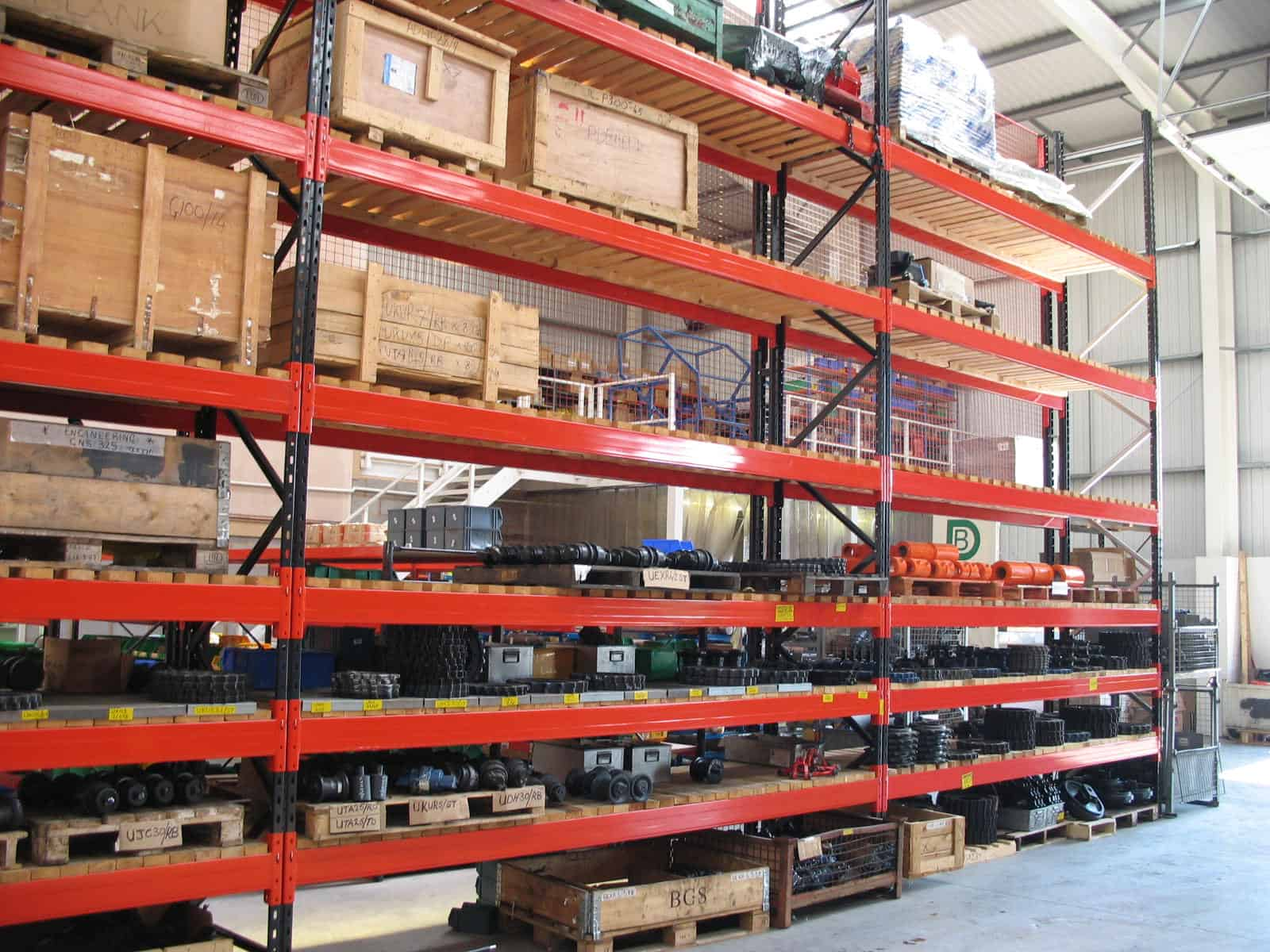 shelving in warehouse