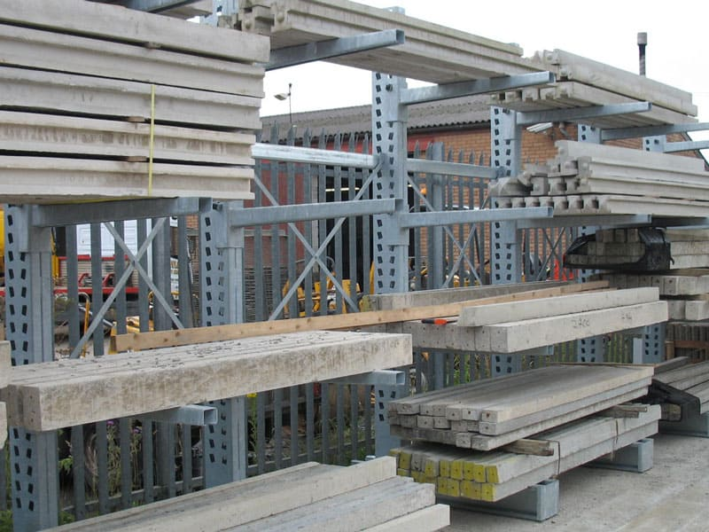 cantilever racking for steel lintels