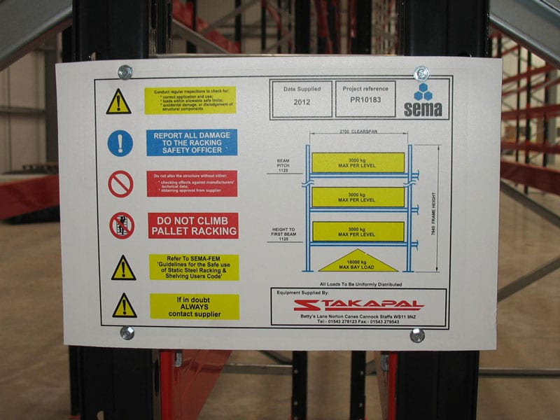 load label racking