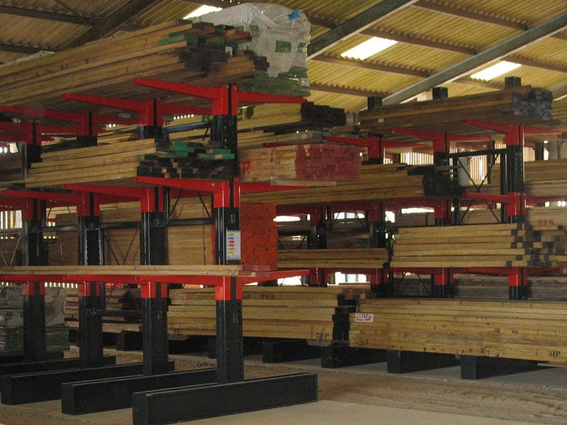 timber cantilever racking
