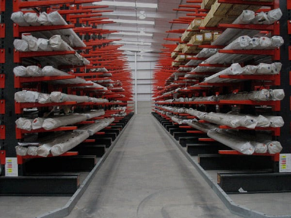 Cantilever Racking Guided Aisle