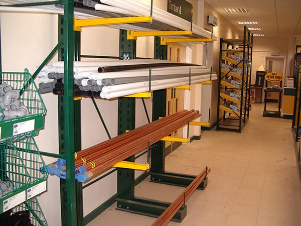 Copper Pipe on Cantilever Racking