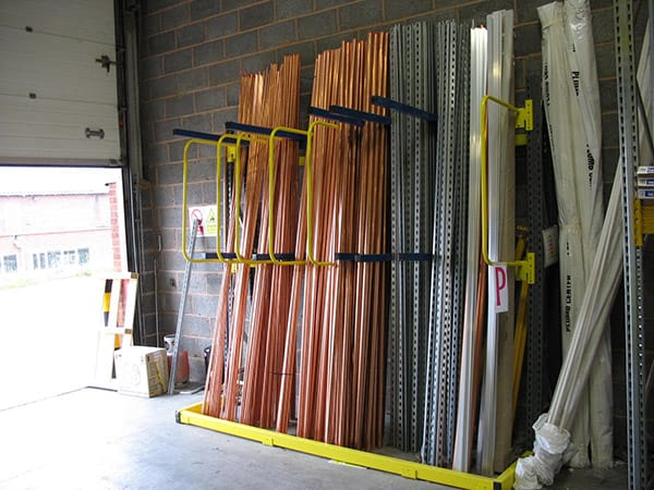 Vertical Storage Racking for Copper Pipe Storage