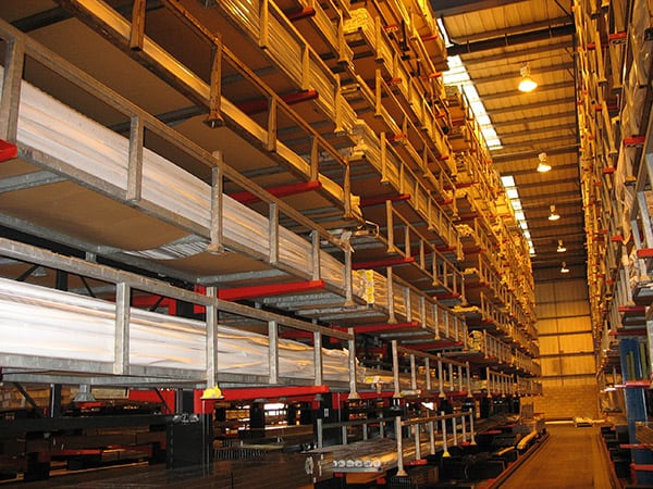 Cantilever Racking for Long Lengths of PVCu Extrusions