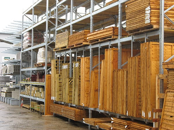 External Pallet Racking for Fencing and Materials