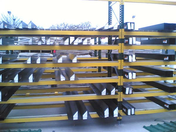 Steel Lintels stored on Stakapal Pallet Racking