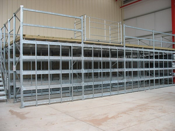Galvanised Pigeon Hole Racking