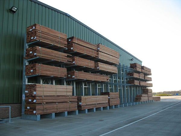 Single Sided Galvanised Cantilever Racking for Timber