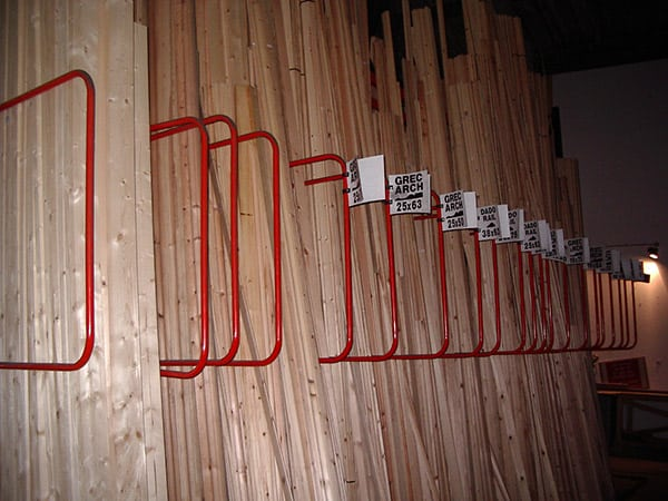 Vertical Storage Racking for Handloaded Timber Storage and Picking