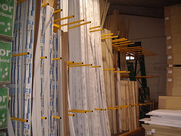 Vertical Storage Racking for Timber and PVCu