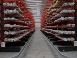 Cantilever Racking maximises stock density of long length products