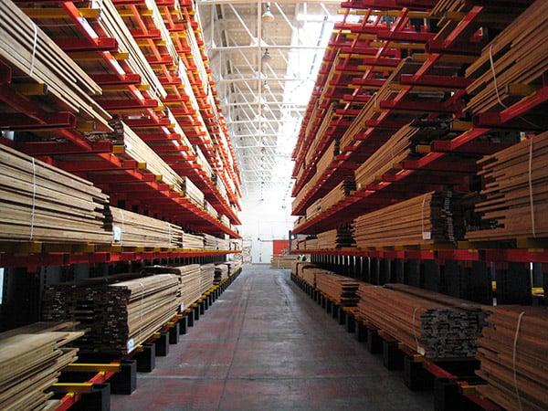 Hardwood Cantilever Racking Image