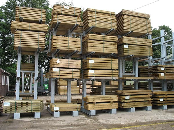 Hot Dipped Galvanised Cantilever Racking for Standard Carcassing Timber