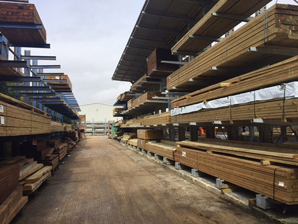 External Timber Cantilever Racking