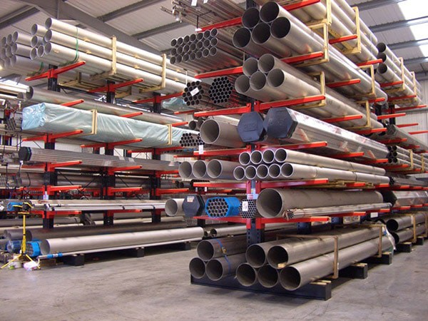Cantilever Racking for Steel Tubes
