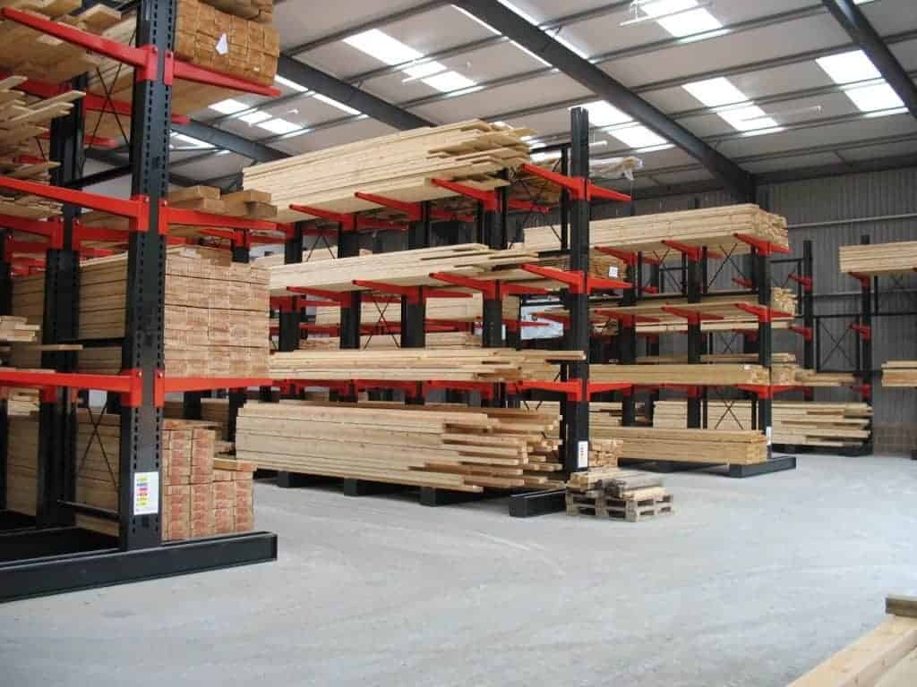 free path cantilever racking